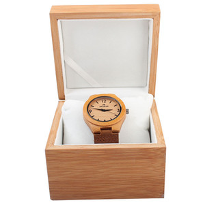 Wholesale Natural bamboo flip watch box high grade watch gift packaging bamboo watches box