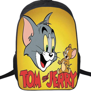 Wholesale Tom and Jerry backpack Cat mouse daypack Anime schoolbag Cartoon rucksack Sport school bag Outdoor day pack