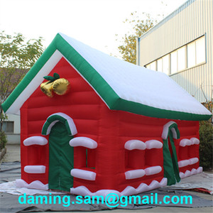 New design inflatable Christmas santa calus house for holiday decoration