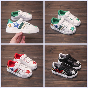 Wholesale Children shoes new girls boys fashion casual shoes for year rubber sole flat PU shoes for Kids students