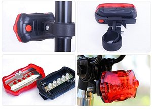 Wholesale Tail Light for Bicycle Lamp Waterproof LED Rear Flashing Bike Cycling Lamp Safety Color Black