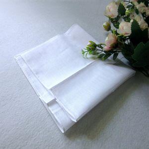 Wholesale white handkerchief, pure white handkerchief, pure color small square, cotton sweat towel, plain handkerchief,free shipping