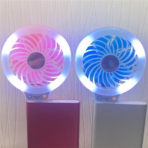 Beauty Handheld LED Night Light USB Mini Fan Portable Selfie fill Light with Small Fan for Power Bank Smartphones Pocket USB Fan