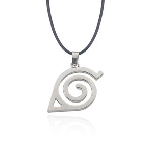 Hot Anime Naruto Necklace Kakashi Leaf Village Symbol Cosplay Pendants Necklaces Kakashi Konohagakure Konoha Ninja Logo Jewelery