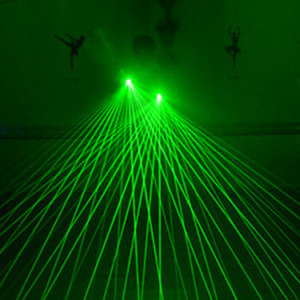 Wholesale Green Red Laser Glove With nm mW LED Lasers Light Dancing Stage Luminous palm lights Gloves For DJ Club KTV Show Gloves