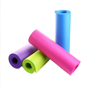 Yoga Mat Exercise Pad Thick Non-slip Folding Gym Fitness Mat Pilates Supplies Non-skid Floor Play Mat 4 Colors 173 * 61 * 0.4 CM on Sale