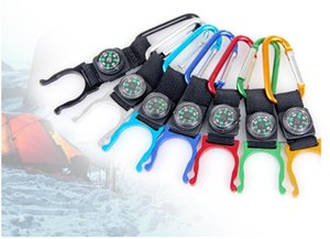 Wholesale Lowest Price Free FEDEX RA Durable Climb Hook Lock Keyring Keychain Carabiner Clip Hang Bukle With Drink Bottle Holder