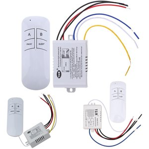 Wholesale ABS Wireless ON OFF Ways V Lamp Remote Control Switch Receiver Transmitter