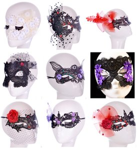 Wholesale Hot selling models handmade lace eye mask sexy Catwoman party nightclub dance mask theme party mask Sexy lace Easter party Ladies Half mask