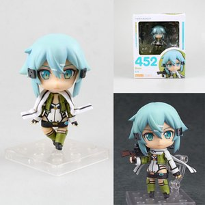 Wholesale Sword Art Online action figure Q Version Asada Shino Nendoroid Japanese cartoon model toy Decorate boxed T7240