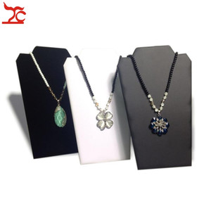 Retail Jewelry Display Rack Large Folding Necklace Pendant Holder 3 Color Available Cardboard Easel Necklace Stand 20*32cm
