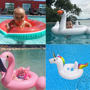 Wholesale Baby Inflatable Pool Float Flamingo Swan Watermelon Unicorn Pegasus Water Swimming Swim Ring Pool Toy Kids Life Ring Styles OOA2094