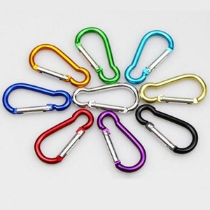 Carabiner Ring Keyrings Key Chain Outdoor Sports Camp Snap Clip Hook Keychains Hiking Aluminum Metal Stainless Steel Hiking Camping OEM