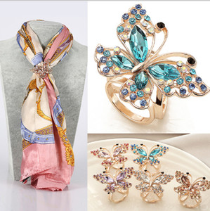 Wholesale hijab bouquets for sale - Group buy Enamel Esmalte De Unhas Butterfly Brooch Broches Brooches Wedding Bouquet Vintage Wedding Hijab Scarf Pin Up Buckle Broches