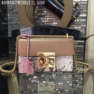 Wholesale perfect body for sale - Group buy Europe American leather Cross body Women serpentine cm small shoulder bags Original leather and hardware with box perfect all leather