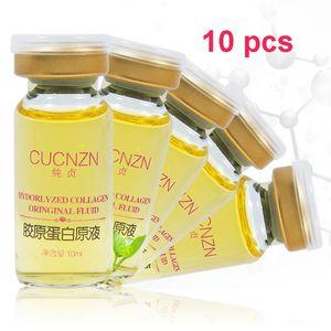 Wholesale 10 pcs Hydrolyzed Collagen Original Fluid Pure Collagen Face Essence Firming Skin Care Essence 10ML