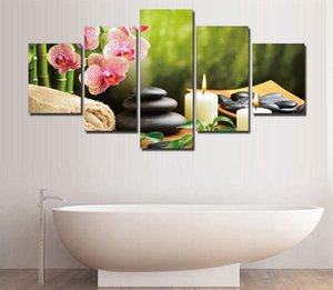 Wholesale Unframed Piece The Bamboo And Stones Modern Home Wall Decor Canvas Picture Art Hd Print Painting On Canvas Artworks