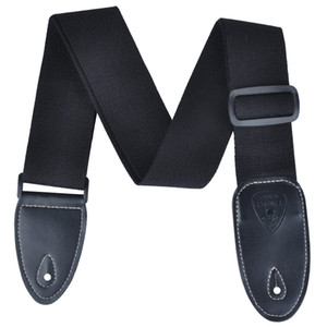 Wholesale High Quality Polyester Cotton Acoustic Guitar Strap Adjustable Moven Pattern 4 Colors- Black