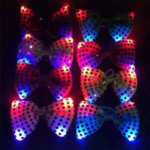 Wholesale Luminous necktie, 2017 new style luminous necktie, decorative toy, LED luminous bow tie wholesale
