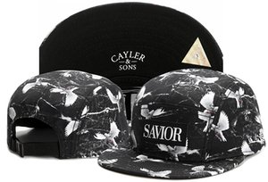 Wholesale Hot Sale Panel Cayler Sons SAVIOR Dove Print Snapbacks Flat Bill Hats Snap back Baseball hat cap caps Adjustable Black TYMY