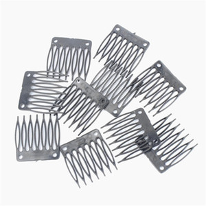 Wholesale hair combs resale online - Hot Sale Cheap Plastic Wigs clips Wig combs Clip plastic comb For Wig Cap and Wig Making Combs hair extensions tools