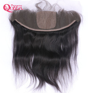 Wholesale Brazilian Straight Hair Silk Base Lace Frontal Closure Virgin Human Hair Hidden Knot Lace With Baby Hair x4 Ear to Ear Natural Hairline