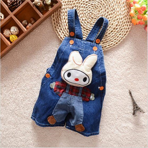 Wholesale 0 to 3 years old children in infants and young children cartoon suspenders summer taobao cowboy shorts manufacturers selling of foreign trad