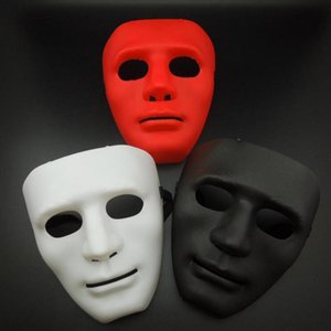 Wholesale red black white men masquerade mask for sale - Group buy Halloween Party Full Face Masquerade Masks Men Bboy Hip hop PVC Masks JabbaWo Street Dancing Face Masks Red Black White Blue Green