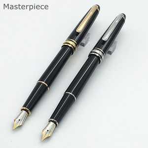 Luxury pen masterpiece 163 & 164 black resin classic fountain writing pen 4810 middle nib ink converter pen