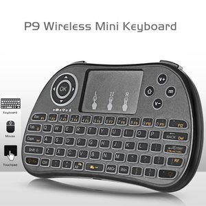 2.4G Wireless Keyboard P9 Fly Air Mouse Backlit Keyboard Multi-Media Remote Control Touchpad Handheld For Android TV BOX