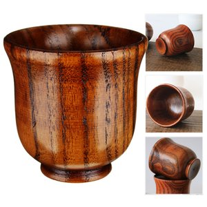 Eco friendly 80ml Wooden Cup Primitive Handmade Tea Coffee Wine Cup Chinese Style Teaware Kitchen Accessories Drinking