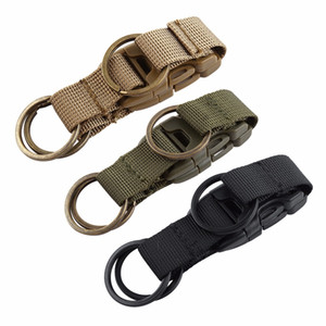 Wholesale Backpack Buckle Carabiner Nylon Belt Keychain Locking Key Chain Clip Quick Release Durable For Outdoor Hike Camp