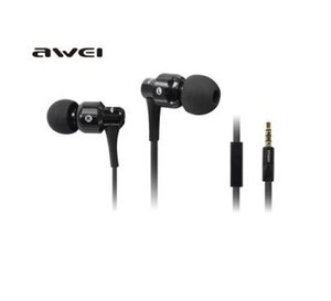 Wholesale HIFI Stereo Headset mm Jack Portable Media Player Earphone AWEI ES i Cell Phone Headphone With Retail Package