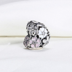Wholesale real pandora charms resale online - Real Sterling Silver Not Plated Flower Heart Openwork European Charms Bead Fit Pandora Snake Chain Bracelet DIY Jewelry