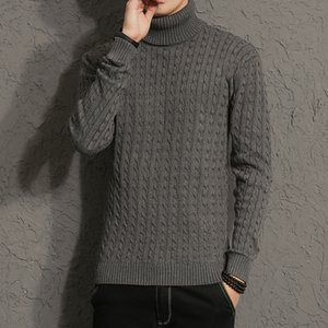 New Autumn Men Brand Casual Sweater Turtleneck Striped Slim Fit Knitting Men's Sweaters Pullovers Men Pullover M-5XL on Sale