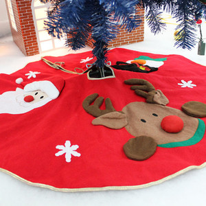 Wholesale cm Snowman Tree Skirt Nonwovens Christmas Tree Skirt Bells Christmas Supplies