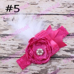 Wholesale Flower Baby Headband Girls Headband Lace Feather Headband Shabby Chic Vintage Headbands girl hair accessories