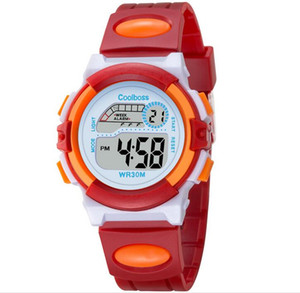 Wholesale 1000PCS NEW multi function children s electronic watches color Luminous alarm clock calendar time unisex sports watches child best gift