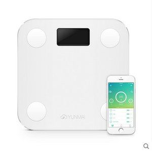 Wholesale White Mini Smart YUNMAI Scales Household Premium Support Bluetooth APP Fat Percentage Digital Body Fat Weighing Scale Hot Sale B