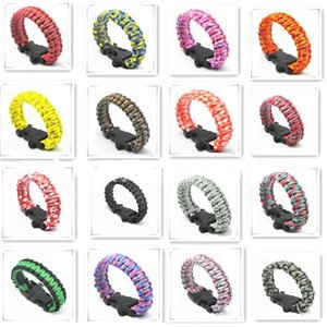 Wholesale New arrival survival bracelets many colors custom Bracelet paracord with women and men Survival Bracelet Rope
