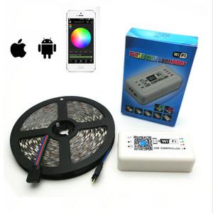 5m LED Strip 5050 RGB Waterproof 60leds m IP65 tape SMD 12V flexible light + 24k wifi remote controller LED Strip Light