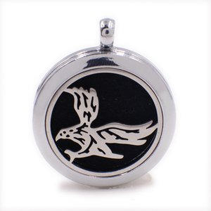 Eagle Perfume Aromatherapy Essential Diffuser Locket XX155 Zinc Alloy 30mm Hollow Locket Silver Free Felt Pads Best Fashion Birthday Gift