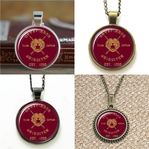 Wholesale 10pcs HP Gryffindor Quidditch Team Captain Pendant Glass Photo Necklace keyring bookmark cufflink earring bracelet