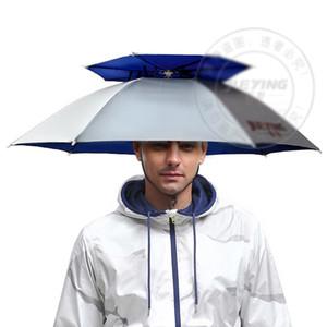 360 degree All round Professional Umbrella hat double layer outdoor anti-uv umbrella cap windproof umbrella hat for fishing shutterbug