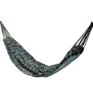 Wholesale 2017 Outdoor Hammock Camo Parachute Fabric Folding Hanging Bed Swing Cot Durable Camping Hammock
