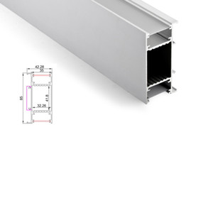Wholesale 50 X 1M sets lot wall washer aluminium led profile and flat H type led alu channel for wall up and down lamp