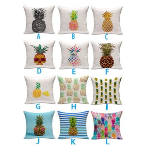 Wholesale 18x18 Inches Colorful Pineapple Throw Pillow Case Cover Sequins pillow cushion covers Without Pillow core Home Sofa Car Decor
