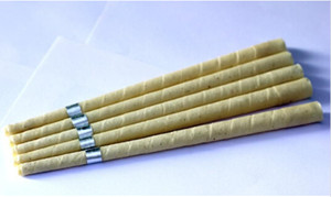 142pcs lot of pure beewax ear candle unbleached organic muslin fabric ,with protective disc+CE quality approval