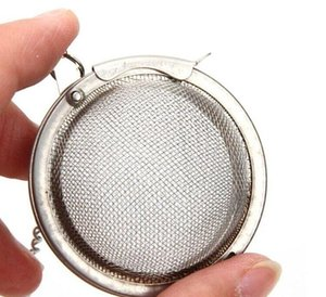 Wholesale pots prices resale online - DHL Best Price Stainless Steel Tea Pot Infuser Sphere Mesh Strainer Ball cm