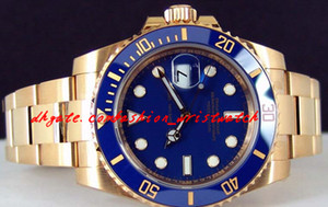Stainless Steel Bracelet Yellow Gold Blue Dial Ceramic 116618 Automatic movement WATCH CHEST 40mm Mechanical MAN WATCH Wristwatch